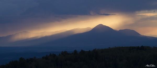 Monsoon in Colorado, Sleeping Ute Mountain, Alex Pullen Photography