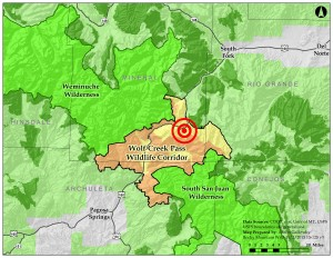 "Wilderness areas in the U.S. are arguably some of the most protected lands in the entire world. The proposed village at wolf creek would disturb and bisect a ""corridor"" connecting two of the largest wilderness areas in Colorado."